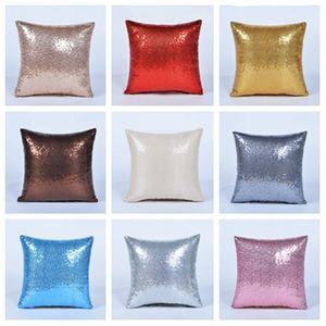hot 40*40cm glitter sequins pillowcase Mermaid pillow cover home sofa car comfortable decor waist cushion cover Home Textiles T2I5723
