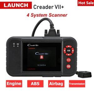 원래 발사 Creader VII 플러스 OBD2 자동차 스캐너 엔진 AT ABS 에어백 진단 도구 자동차 검사 코드 리더 PK CRP123