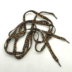 Leopard classique Imprimer Lacets mode Chaussures polyester dentelle Chaussures Bottes Chaussures à cordes Party Camping Bottes Lacet