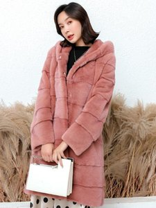 long winter real coat with hood long sleeve black thick warm whole mink coats women plus size mink jacket