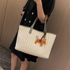 Fashion Color Contrast Braid Hand Bill Lading Shoulder Bag Versatile Large Capacity PH-CFY20060414