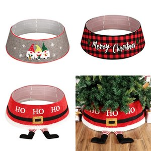 Yılbaşı Ağacı Etek Yuvarlak Halı Noel ağacı Etek Santa Kemer Merry Christmas Baskılı Ağacı Dekoru Noel Yılbaşı Partisi DHA736 Malzemeleri