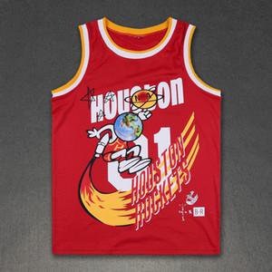 Verano hombre de las camisetas de moda de Scott Travis x Uniforme BR Deportes chaleco retro del baloncesto sin mangas floja del cuello barco