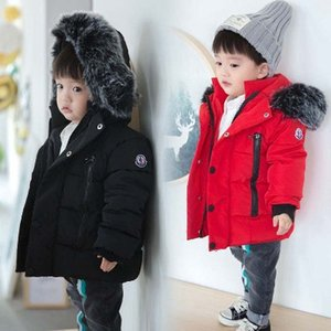 Baby Boys Jacket 2019 Autumn Winter Jackets for Boys 1-5 Years Kids Fur Collar Hooded Warm Outerwear Coats for Boys Clothes