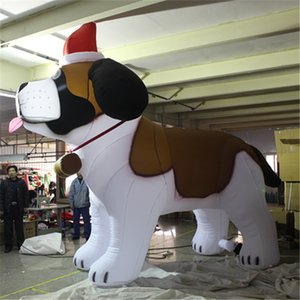 Гигантская надувная Собака на Рождество привело декор событие этап надувных поставщик 2019 ночной парад оформления