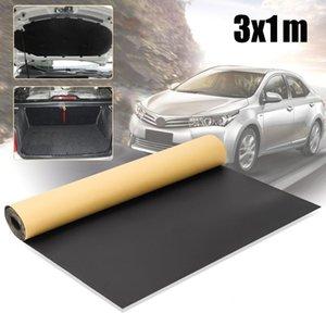 300x100cm Car Auto Sound Deadening Voitures coton insonorisés Tapis d'isolation thermique en mousse Tapis Tapis intérieur Accessoires