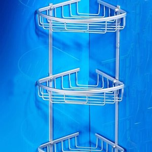 Useful Space Aluminum Basket With Hook Health Angle Frame Storage Shelf Bathroom Shower Accessories