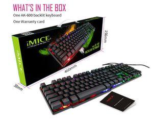 IMICE Original AK-600 teclado mecânico Jogo Wired Keyboard Para Notebook PC Gaming Keyboard Backlight Key Suspension