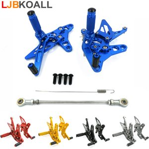 CNC Aluminium Motorcycle Rearsets Foot Pegs Pedal Footestest para SV 650 SV650 SV650S 2016-2017 5 colores Free Ship