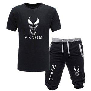 Las nuevas llegadas Casual Male Venom camisetas y pantalones cortos basculador hombre acaba de romper Hombre Camisetas japonés de la manera camiseta de dos piezas