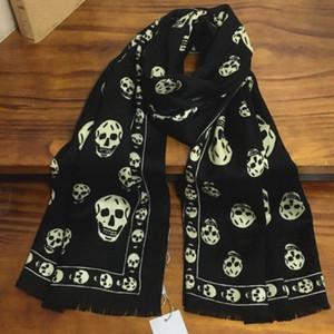 stampa All'ingrosso-classico teschi modello di lana materiale sciarpa Pashmina sciarpe delle donne dimensione scialle 180 centimetri -65cm