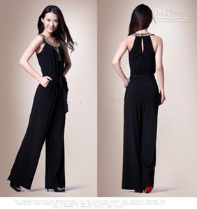 2019 Yeni toptan Sıcak Satış zarif İnce Boncuklu Akşam ile Asil siyah tulumlar / Resmi Elbiseler
