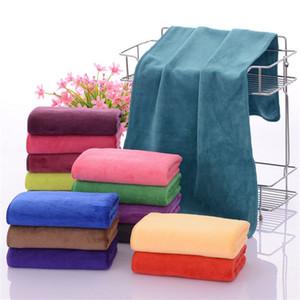 15 couleurs Tissu microfibre cheveux secs Serviettes Nano 35 * 75cm Car Wash Nettoyage cheveux serviette Absorbent visage essuie-mains Salle de bain Toallas
