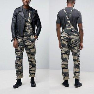 Mens Jeans tuta casuale di Camo maschile denim i pantaloni della Tuta Streetwear uomo Camouflage Stampa Pantaloni harem delle tute complesso