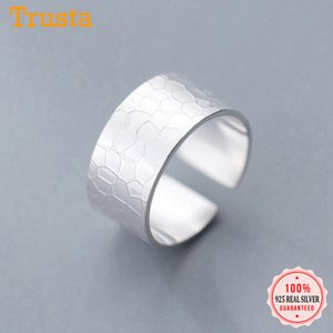 Trustdavis Moda Genuine 925 Sterling Silver doce fresco bonito Abrir dedo anelar para as Mulheres Sterling Silver Jewelry presente DS2255