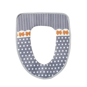 Soft And Warm Toilet Seat Cover Washable Toilet Seat Pad With Hook And Loop Self Adhesive Tapes