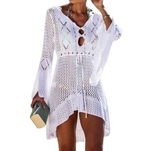 Hot New summber Sunscreen Card and Variety Beach Bikini Blouse and Brilliant Flower Patterns Cover-Ups Sexy See-through Beach Dress