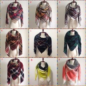 2017 Женщин одеяла шарф Cozy Крупногабаритной Шотландка кисточка шарф Нового Wrap Сетка шаль Проверить пашмины кашемир акриловой решетки шея плед Украл