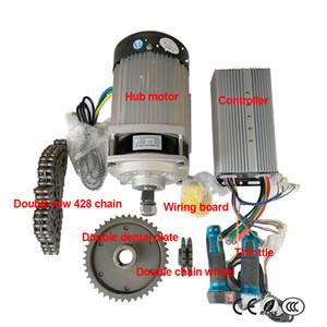 48V60V 1000W 허브 모터 컨트롤러 더블 행 428 체인 더블 치과 플레이트 더블 체인 휠 배선 보드 스로틀 수정