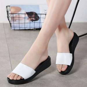 Summer de la nueva marca manera de la mujer al aire libre Peep Toe Mujeres zapatillas planas Letters elástico zapatillas populares Cruz tela Vacaciones Casual Zapatillas 7