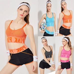 2018 New Brand Donne Yoga Crop Fitness Top + ghette di allenamento di ginnastica Sport Wear Set Yoga