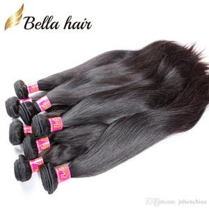 8 ~ 30 pulgadas sin procesar indio de la Virgen teje de cabello 100% sedoso cabello humano de la trama 2 Piezas Negro Natural Color de Pelo Paquetes envío