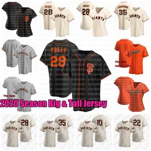 Buter Posey 2020 San Francisco Big and Tall Jersey Kevin Pillar Crawford Evan Longoria Belt Cozart Mauricio Dubon Donovan Solano Samardzija