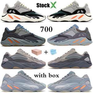 2020 Kanye West 700 v2 Carbon Teal Blue инерционные дизайнерские кроссовки Wave Runner Solid Grey Static Vanta мужские женские кроссовки Stockx