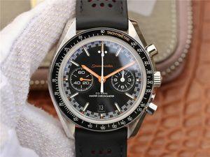 OM أعلى الساعات الفاخرة سباق كرونوغراف 9900 الحركة الميكانيكية، الياقوت مرآة قمر عملاق الرجال سلسلة الفاخرة الكرونوغراف