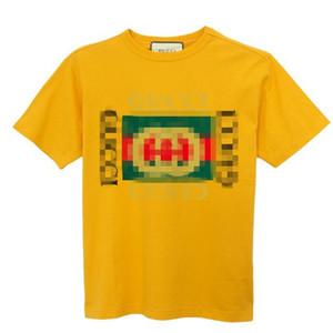 남성 크기 남성 디자이너 T 셔츠 남성 T 셔츠 남성 의류 여름 구찌 리터 크루 넥 모달 짧은 소매 높은 품질 패션 셔츠는 S-3XL을