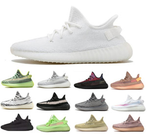2020 Kanye West Designer Men Running Shoes Creme Branco estática Preto argila Bred matiz azul Beluge 2,0 Synth Zebra Red Sports Sneakers 36-47