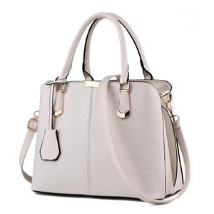 Heiße Verkaufs-Art- und Frauen Leder-Handtasche Geneigte Female Bow-Knoten-Schulter-Beutel-Handtaschen-Dame-Einkaufstaschen Messenger Bag Weiß