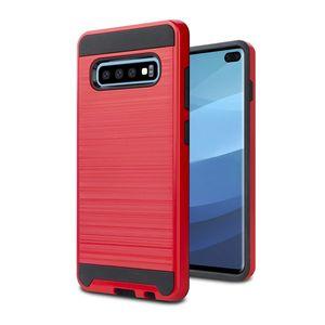 Para Samsung Galaxy S10 S10e S10 más Armor Case PC + TPU cubierta del teléfono Para Alcatel 1X Evolve MOTO G7 potencia Metropcs B