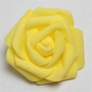 30Pcs lot 8cm PE Foam Rose Artificial Flower Heads For DIY Wreaths Wedding Party Decoration Home Garden Decorative Supplies 85z