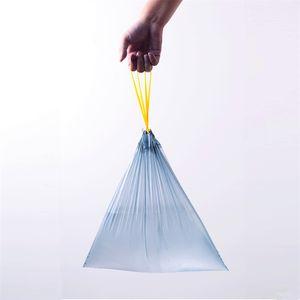 Bolsa Desechable Portátil Engrosada Bolsa de Basura Transparente Cierre Automático Bolsa de basura Con cordón Ecológico Conveniente Inicio 4 3ht k1
