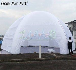 10 m 6 faisceaux événement tente gonflable spide dôme chapiteau, ballon de dôme de parti de l'air avec rideaux de porte amovible à glissière pour les Etats-Unis