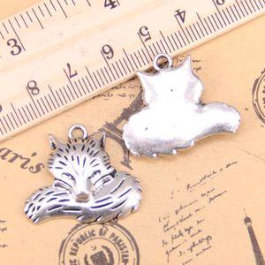 4шт Подвески волка хвост 24x28mm античная Подвески, Vintage тибетские серебряные ювелирные изделия, DIY для браслета ожерелья