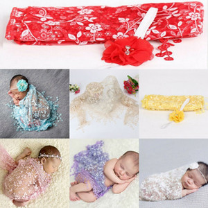 Cute newborn photography fashion lace flower perspective blanket baby photo props