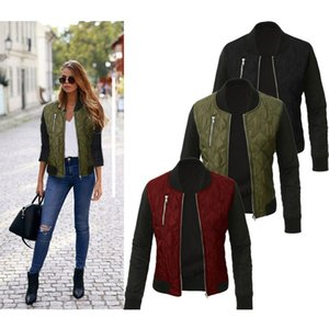 Vendas AliExpress Hot Hot Selling 2017 Outono E Europa Inverno E a América Moda Zipper acolchoado legal pequenas Jacket Brasão