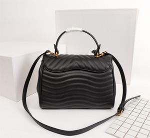 الاصل جودة عالية موجة جديدة الأعلى مقبض حقيبة يد جلدية حقيقية المرأة حقيبة جلدية حقيقية حقائب الكتف جلد العجل أكياس crossbody