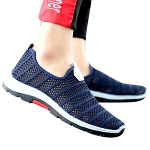 SAGACE Sneakers Men's Summer Hollow Woven Mesh Breathable Platform Leisure Shoes Lightweight Soft Non-Slip Sports Shoes X0102