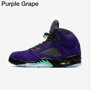 Top Quality Jumpan 5 Alternate Grape 5s Purple Grape 2020 Authentic Top 3 Fire Red Metallic Basketball Shoes Designer Trainers Sneakers