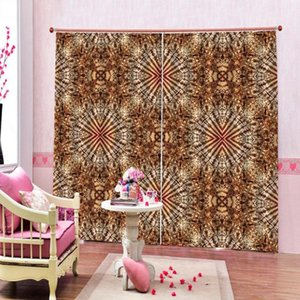 brown curtains Beautiful Photo Fashion Customized 3D Curtains mordern Blackout curtain