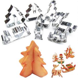 الكنز 8PCS 3D عيد الميلاد سيناريو كوكي كتر القالب مجموعة الفولاذ المقاوم للصدأ فندان قالب الكعكة