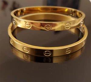Gold Marca brazalete para mujeres de los hombres con la boca abierta encanto pulsera de lujo sin diamantes de imitación al por mayor de joyas pareja caliente pulsera de plata