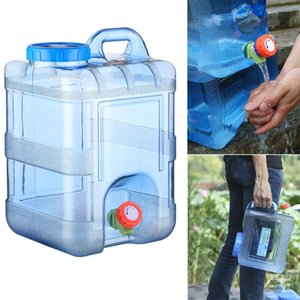 15L Storage Camping Reusable With Faucet Picnic Container Water Bucket With Lid Food Grade Drinking Home Portable Outdoor