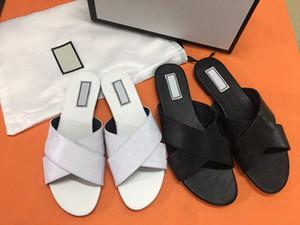 2020 nuove signore di lusso del progettista sandalo pantofole appartamenti in vera pelle alfabeto scarpe di moda esclusivo costume logo originale con scatola di scarpe