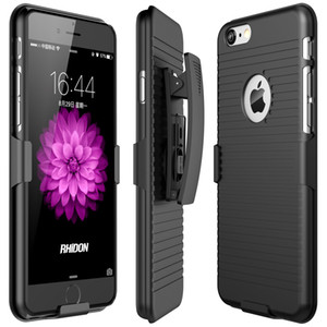 Holster Case 2 in 1 Hybrid Hard Shell Holster Combo Kickstand Belt Clip For iPhone 6 6S / iPhone 6 plus 6s plus / iPhone 7 plus / iPhone 8 8 plus