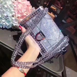 Fashion Love heart V Wellenmuster Satchel Entwerfer-Schulter-Beutel-Ketten-Handtasche Luxus Umhängetasche Geldbeutel-Dame Einkaufstaschen