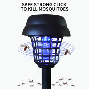 Mosquito Repellent Garden Lamp Solar Powered Outdoor Garden LED Light Mosquito Pest Bug Zapper Insect Killer Path Lighting